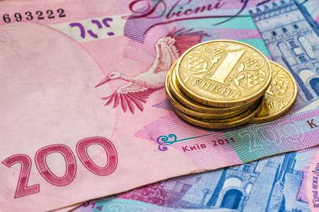 ukrainian: Ukrainian money - coin and hryvnia