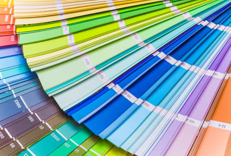 Color wheel for choosing paint tone Stock Photo
