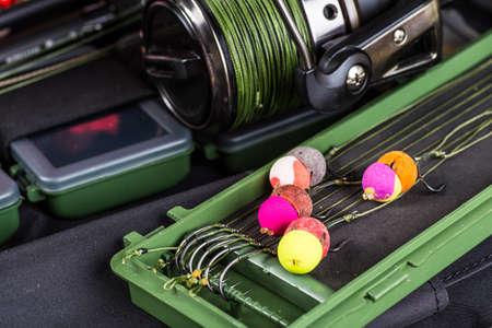 fishing for carp baits Stock Photo