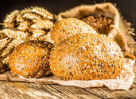 Close-up of traditional bread.