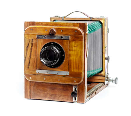 old studio camera, on a white background