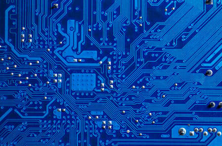 blue circuit board background of computer motherboard 스톡 콘텐츠