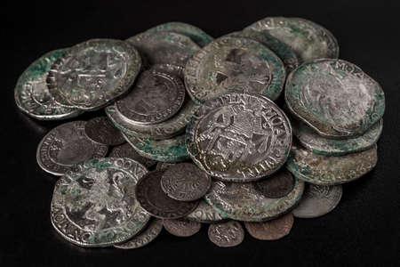 Pail of thalers - ancient european silver coins