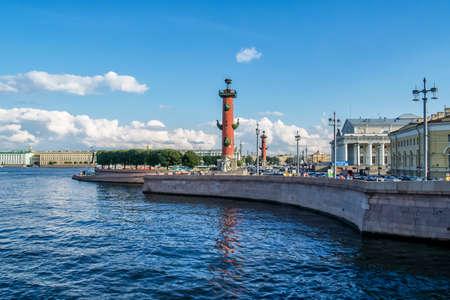 Big Neva River, St. Petersburg, Russia. June 9, 2019.Welcome Saint-Petersburg.