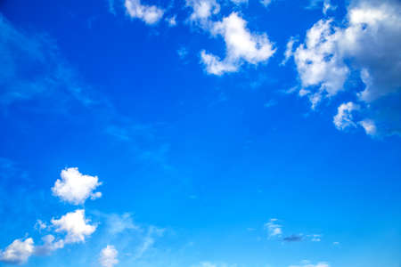 Sky blue or azure sky and white cloud background, beautiful nature on summer