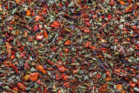 A mixture of different spices close up. Textures of colorful spices and condiments.Colorful Herbal and Spices Oriental.Cafe concept.Various Indian spices