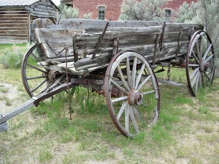 An old abandoned wagon photo