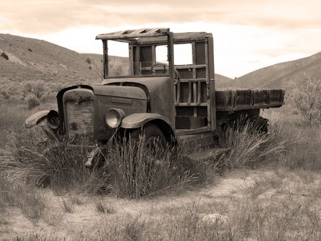 An old abandoned truck