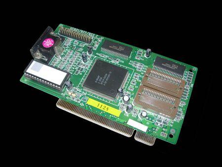 Computer card Stock Photo