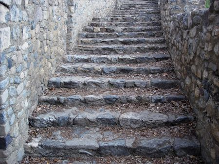 An old stone stairway