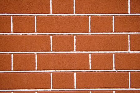 solid line: brick wall of red color with white strips