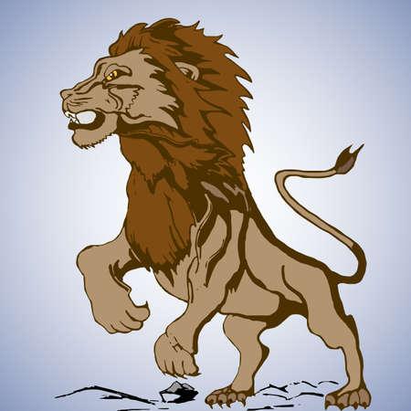 angry lion: angry lion