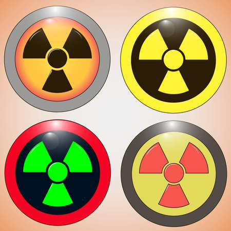 fallout: Set icons of radiation