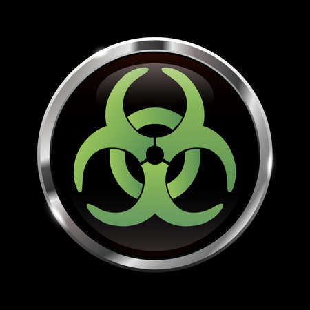 infectious waste: Glowing biohazard sign