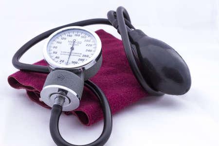 tonometer: Analog tonometer for measuring blood pressure burgundy