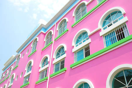 Pink building in Xishuangbanna, China