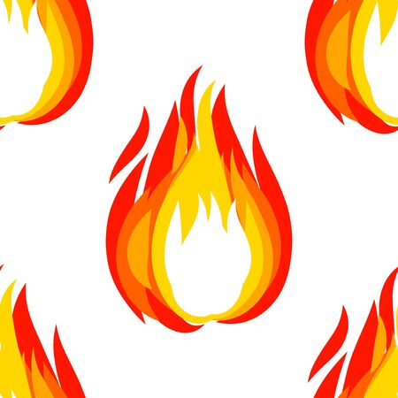 Fireball brush drawing seamless pattern isolation. Vector illustration for graphic design.