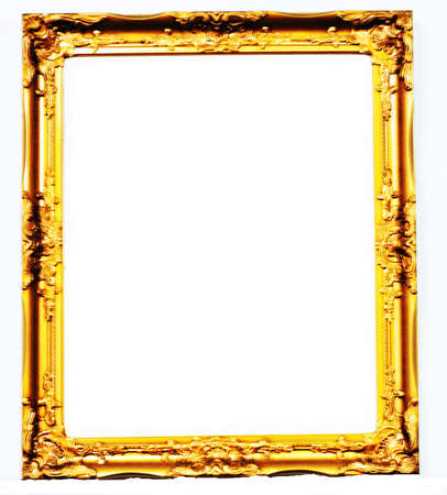 gold frameIsolated over white background  Stock Photo