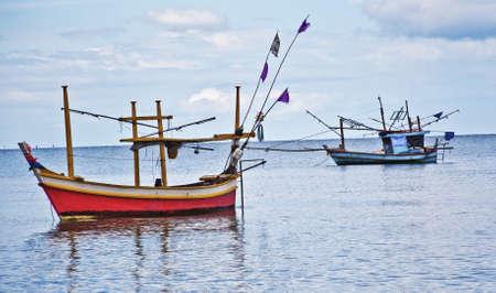 Wooden fishing boat photo