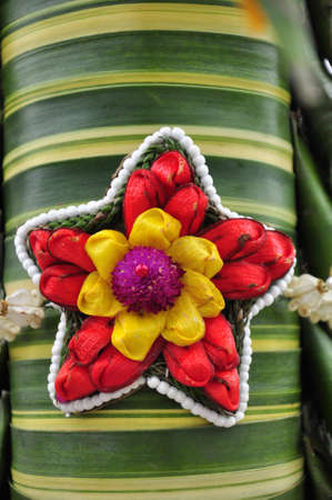 Decorative artificial flowers, Thai style.