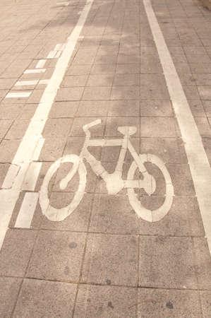 bicycle way on street photo