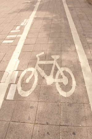 bicycle way on street