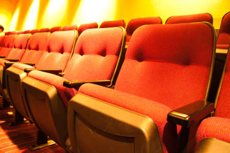 Row of seats in a cinema  Stock Photo