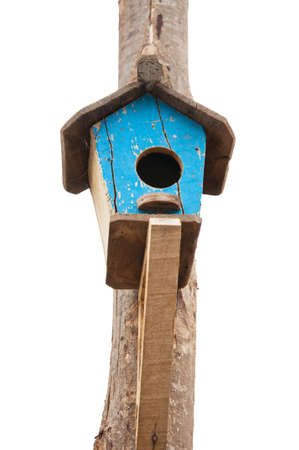 little blue starling-house made of wood  photo