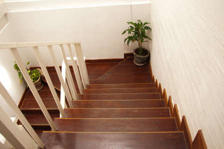 Wood stair.  photo