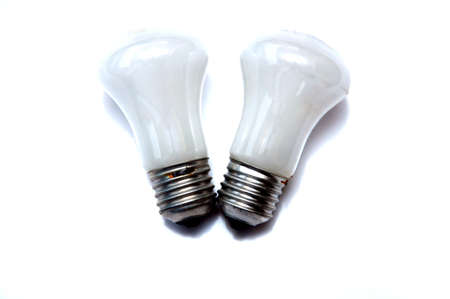 glower: Tungsten light bulb isolated on the white background