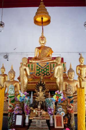 buddha statue in temple photo