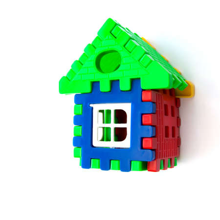 House from puzzle isolate on white background photo