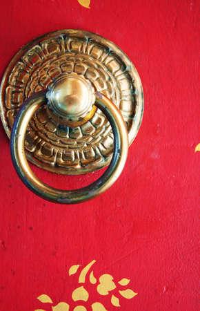 Thai temple door photo