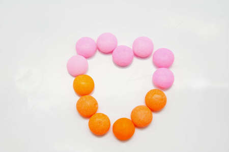 Heart shape frome  candy photo