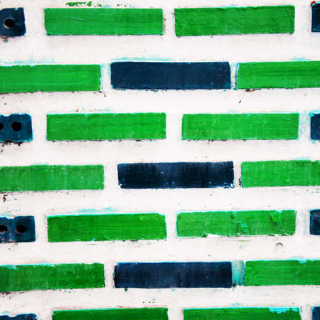 Green brick wall background Stock Photo - 12322750