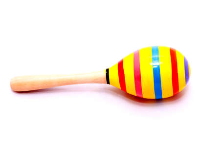 Mexican maracas isolated on  white background Stock Photo