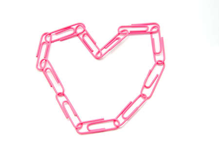heart shape from paper clips  photo