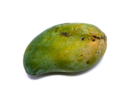 Green mango isolate on white background Stock Photo - 12639616