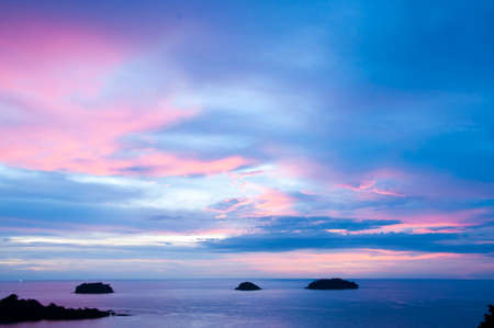 The tropical sunset in Thailand,Andaman sea  Stock Photo