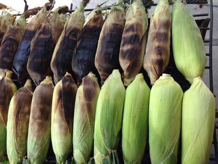 grill: Grill corn Stock Photo