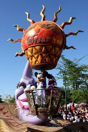 disneyland: Paris, France, 9 April 2011: Disney's Once Upon a Dream Parade in Disneyland Paris