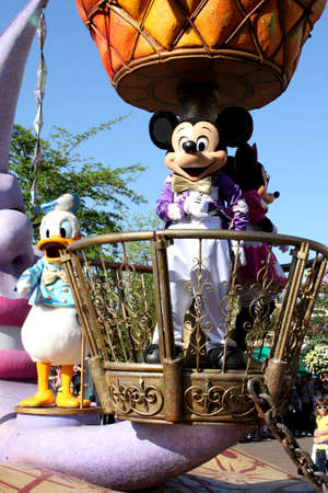 Paris, France, 9 April 2011: Disney's Once Upon a Dream Parade in Disneyland Paris