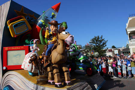 lightyear: Paris, France, 9 April 2011: Disney's Once Upon a Dream Parade in Disneyland Paris