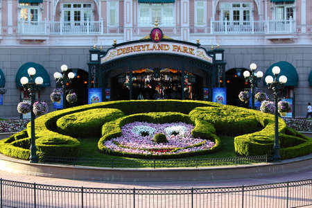 disneyland: Paris, France, 9 April 2011: Entrance in Disneyland Paris