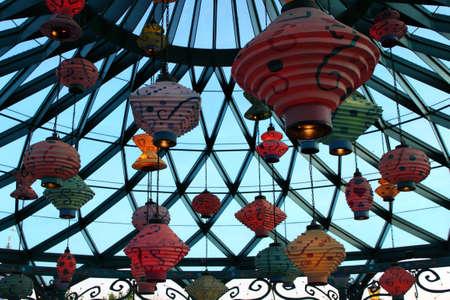 Paris, France, 9 April 2011: Mad Hatters Tea Cups in Disneyland Paris