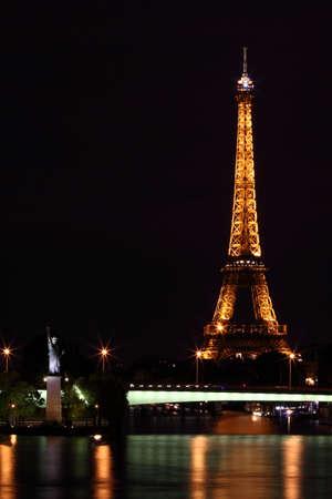 Paris, France, 11 June 2011: Eiffel Tower illuminated at night Stock Photo - 9891501
