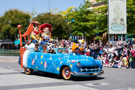 dwarfs: Paris, 1 June 2011: Disney Stars and Cars Parade