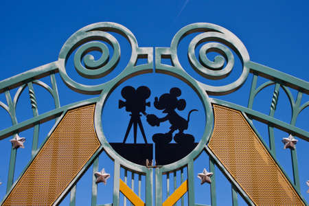 Paris, France, 1 June 2011 - Entrance in Walt Disney Studios