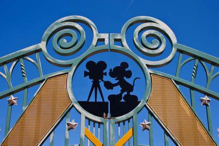 Paris, France, 1 June 2011 - Entrance in Walt Disney Studios