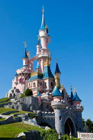 Paris, France, 1 June 2011 - Disneyland Paris Castle Editoriali